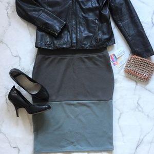 NWT LulaRoe Cassie Grey Ombre Pencil Skirt